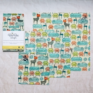 Living Room 3 mixed pack Beeswax wraps BeeBee Wraps
