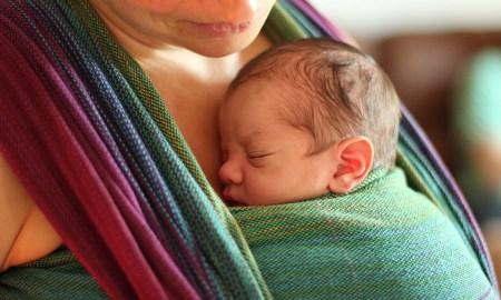 skin to skin baby wearing